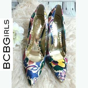 BCBGirls pointy toe pump women's heels multicolor